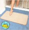 New Microfiber bath mat absorbs moisture
