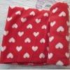 New fashion 100%polyester flower pattern printed fleece blanket