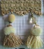 New style claimond veins & plastic beaded curtain tassel fringe