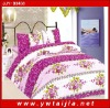 New style flowers bedding set/ beautiful design bedding set/ good quality bedding set/printed 4pcs bedding set