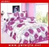 New textile polyester pigment printed queen bedding set