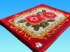 No.FM6015 red super soft blanket