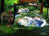 Oil Painting!100%Pure Cotton Reactive Printed Bedding Set