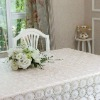 Oilproof &Waterproof 100% Vinyl Lace Tablecloth