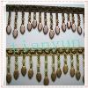 Olive shape beads tassel fringe for curtain