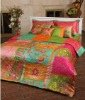 Oriental beauty cotton bed sheet, Antique with Mineral fiber
