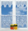 POLYESTER KNITTED LACE KITCHEN CURTAINS