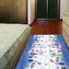 PVC Printed bedroom floor mats,decorative floor rugs
