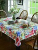PVC Table Cloth With Embossing and Fabric Edge