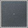 PVC black round dot leather