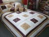 Patchwork and embroidery floral comforter set !!