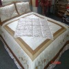 Patchwork jacquard comforter bedding set
