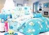 Peach Printed Bedding Sets bedSheet Duvert cover 4pcs