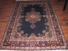 Persian hand knotted silk carpet and rug