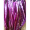 Pink & Natural with Brown Remix Quality Salon Feathers Hair Extension