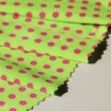Pink Polka Dots Print Spendex Fabric For Bathing Suit