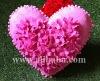 Pink heart handmade pillow