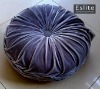 Pleated Velvet Round Cushion