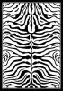 Polypropylene Zebra Rug