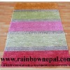 Popular Striped Modern Silk Rug