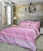 Premium cotton bed sheet, Lime Pink with Mineral fiber
