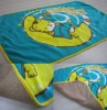 Print blanket with sherpa fleece bonded high quality