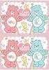 Printed Bear Baby Fleece Blanket