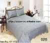 Professional Manufacturer 3pcs stamp printed soft short pile quilt set comforter set bedding set stock XY-Y020