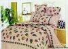 Professional Manufacturer 4pcs100% Cotton bedding set (pillowcase, flat sheet, fitted sheet,)stock!XY-P107