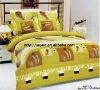 Professional Manufacturer 6pcs 100% Cotton bed set stock XY-P046