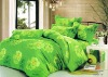 Pure Cotton Peach Printed Bedding Sets green bed Sheet Duvert cover 4pcs