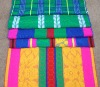 Pure cotton colorful stripes woven Jacquard towel blanket