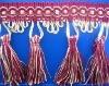 Purple Fringe Lace in Curtains/Trimming Fringe lace/Fashion lace