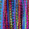 Purple with Natural Brown Mixes of Quality Feathers Hair Extension! 5 Feathers