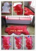 Real red sheep wool rug (hot sale)
