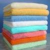 Red color 21s cotton terry loop bath towel