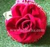 Red rose handmade pillow