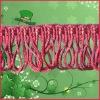Red trimming fringe tassel lace