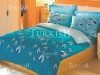 Reversible printed bedlinen with duvet and pillows