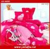 Romantic love 4pcs 100% cotton twill printed bed sheet sets