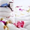 Rotary coral fleece blanket