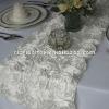 Satin Rosette Wedding table Runner/ Table Runner for Wedding