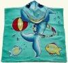 Seafloor park hooded towel