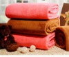 Sherpa coral fleece blanket