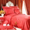Silk/cotton Jacquard Bedding Set 6 pieces Full Queen King Cal King