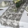 Silver Satin Rosette Wedding table Runner/ Table Runner for Wedding