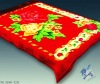 Soft Furry Luxe Flower Floral Adult Blanket