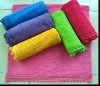 Solid bath towel with lace