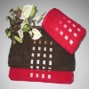 Solid color cotton face / hand towels with contracted square