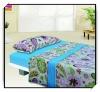 Solid color polar fleece home and hotel bedding sheet set